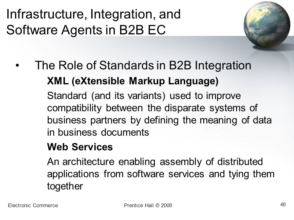 Infrastructure, Integration, and Software Agents in B2B EC