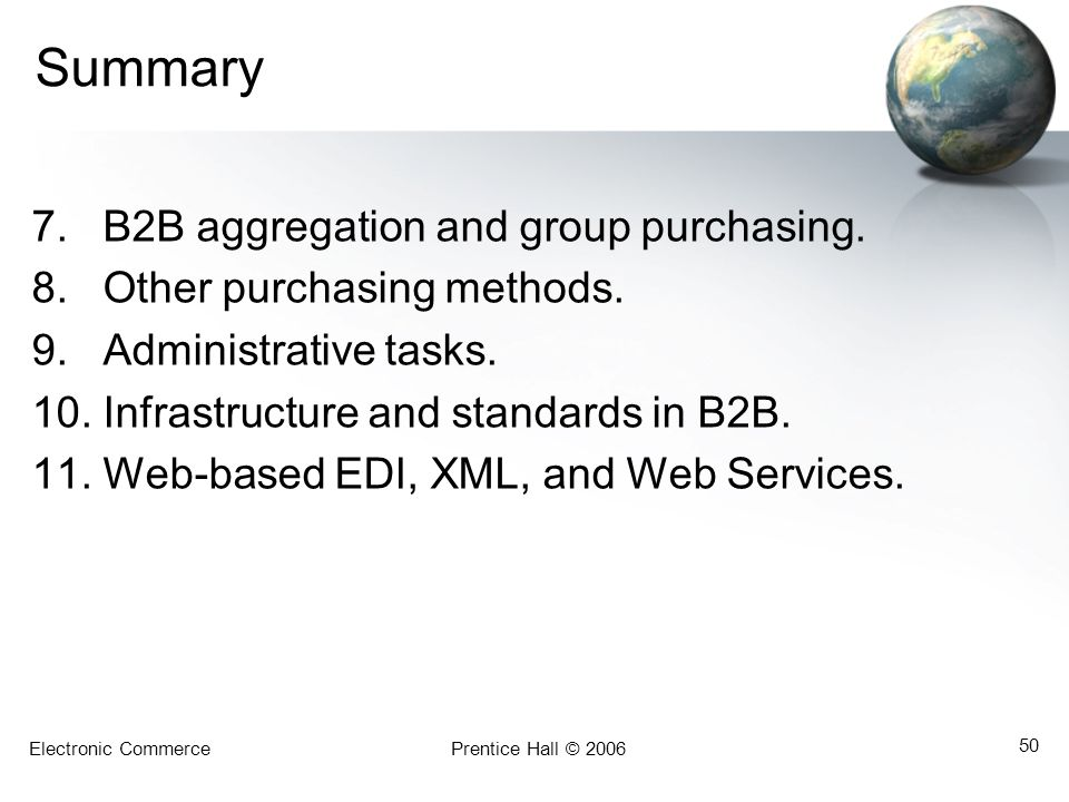 Summary B2B aggregation and group purchasing.