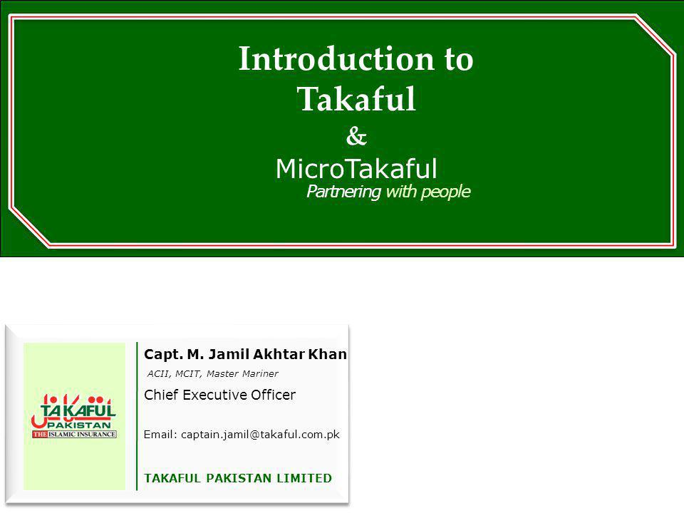 Introduction to Takaful &