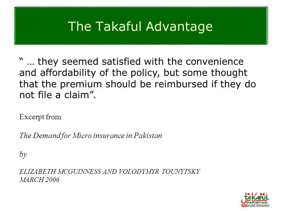 The Takaful Advantage