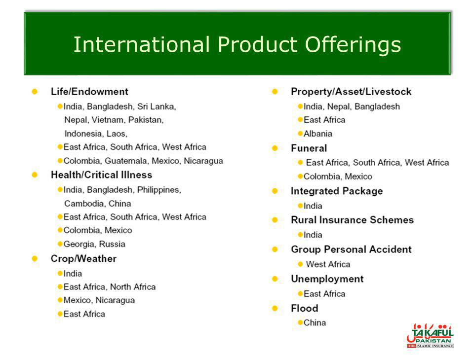International Product Offerings
