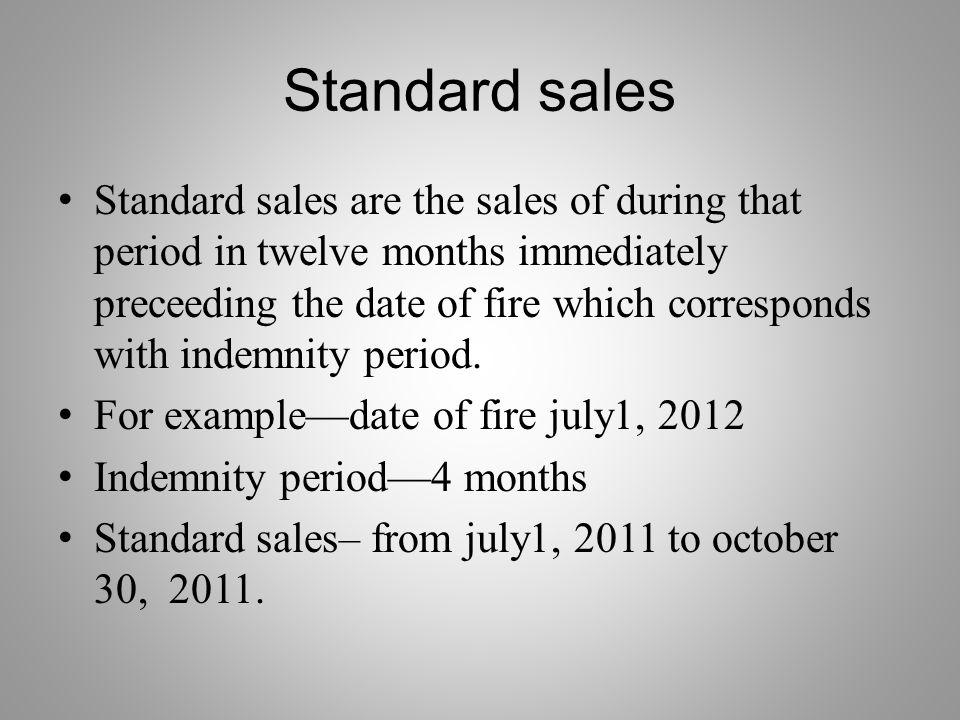 Standard sales