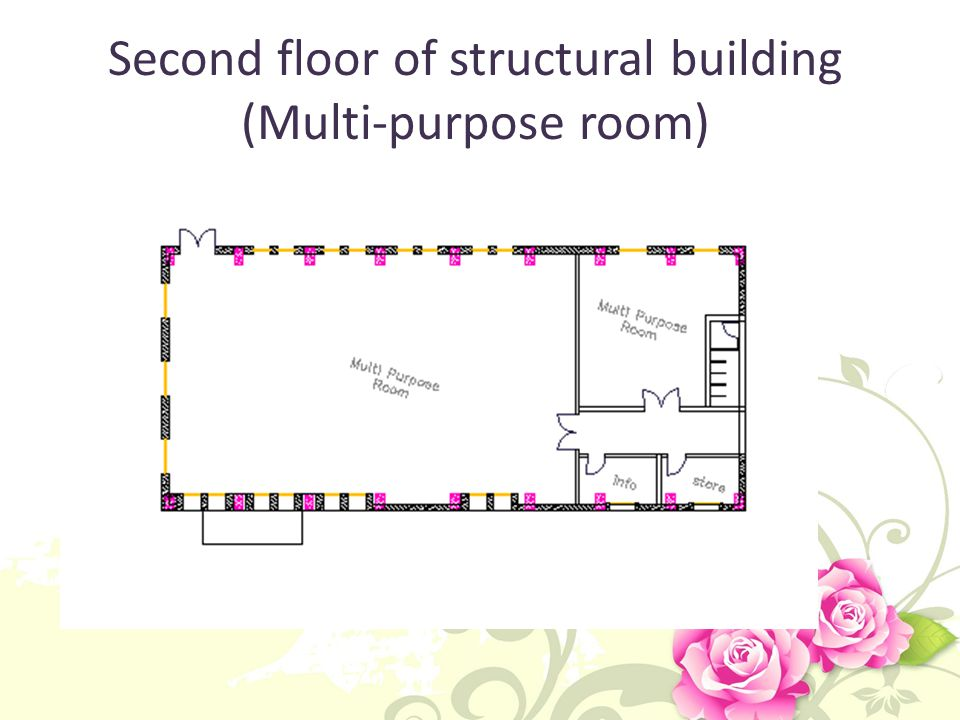 Second floor of structural building (Multi-purpose room)