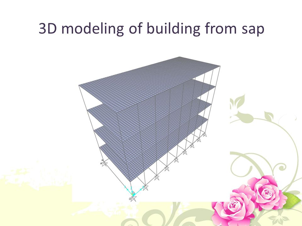 3D modeling of building from sap