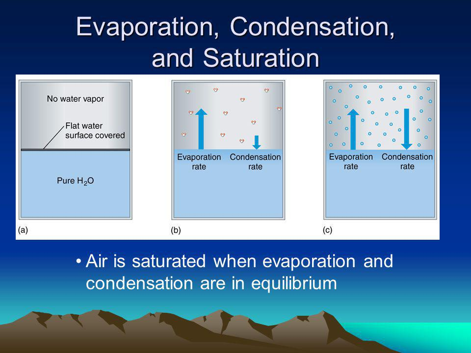Evaporation, Condensation, and Saturation