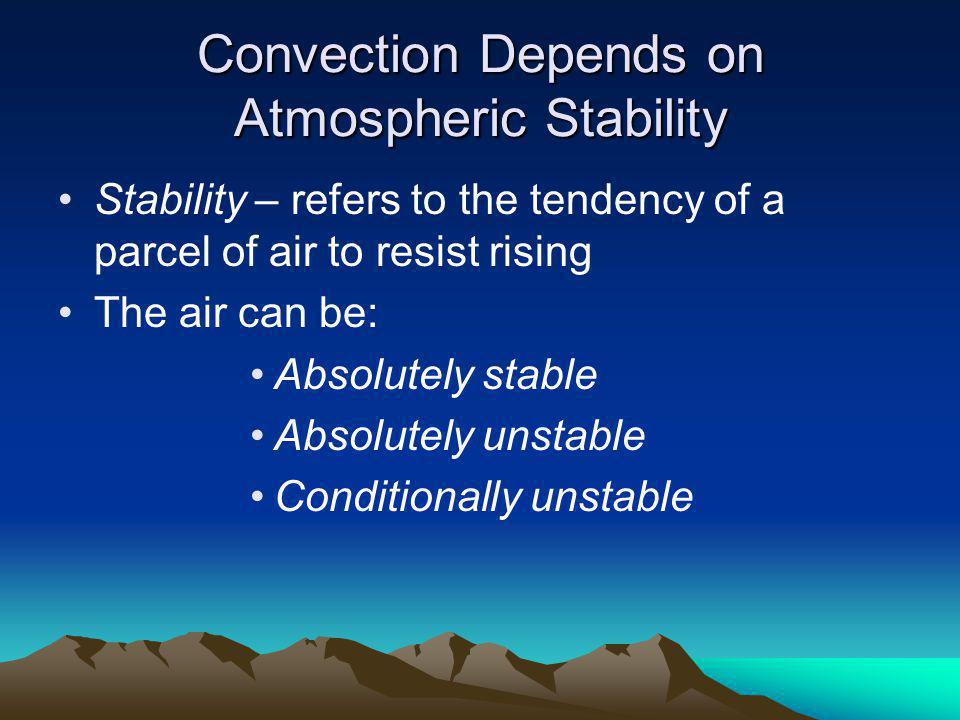 Convection Depends on Atmospheric Stability