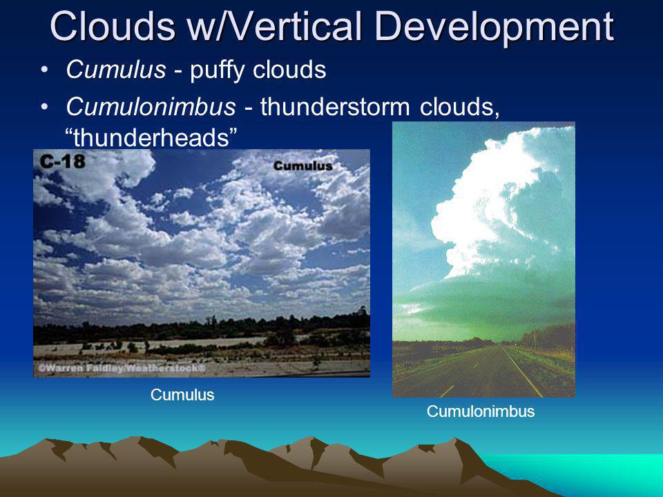 Clouds w/Vertical Development