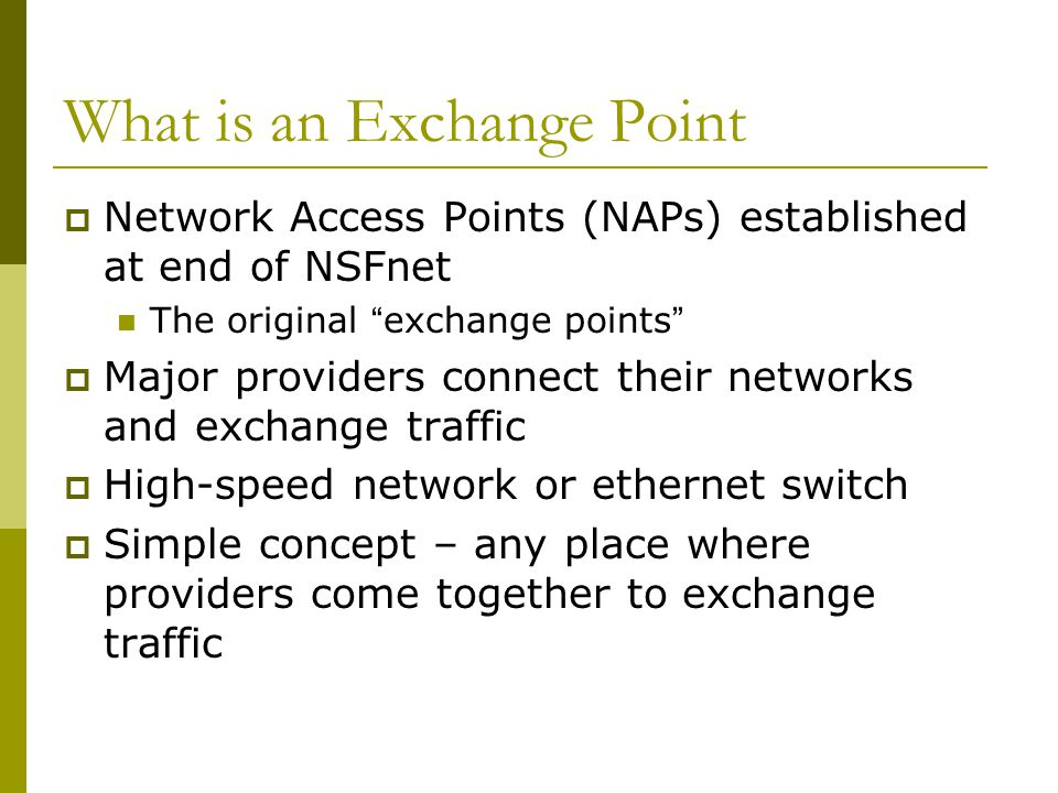 What is an Exchange Point