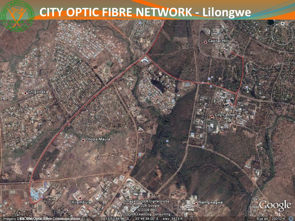 CITY OPTIC FIBRE NETWORK - Lilongwe