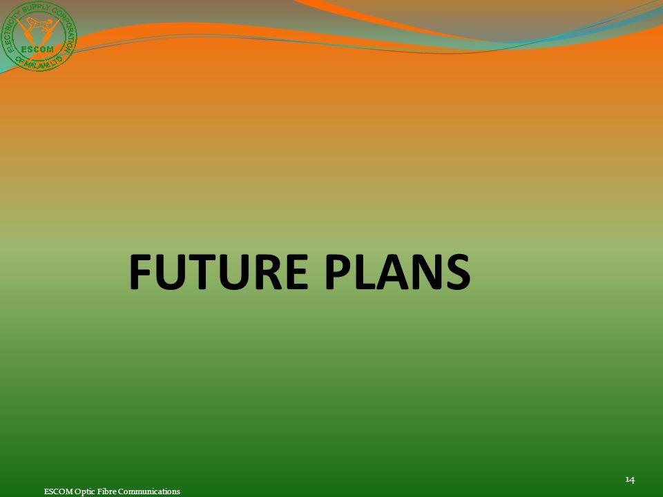 FUTURE PLANS ESCOM Optic Fibre Communications