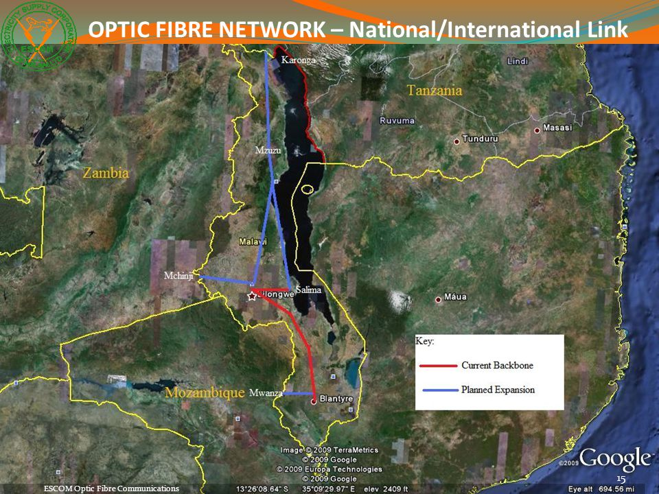 OPTIC FIBRE NETWORK – National/International Link