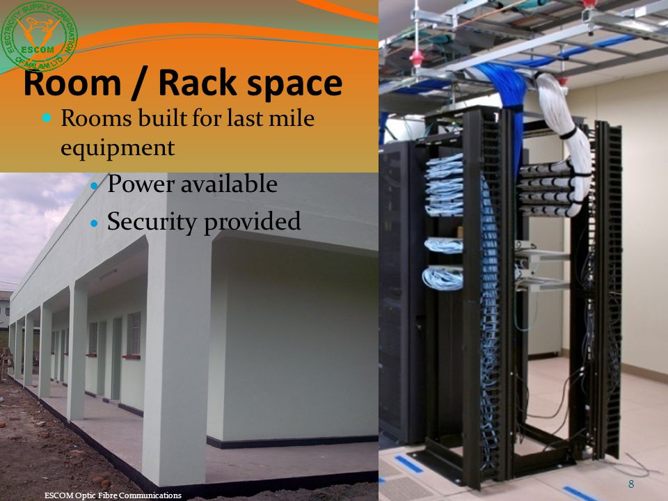 Room / Rack space Power available Security provided