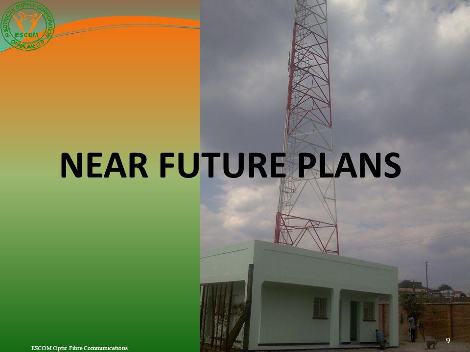 NEAR FUTURE PLANS ESCOM Optic Fibre Communications