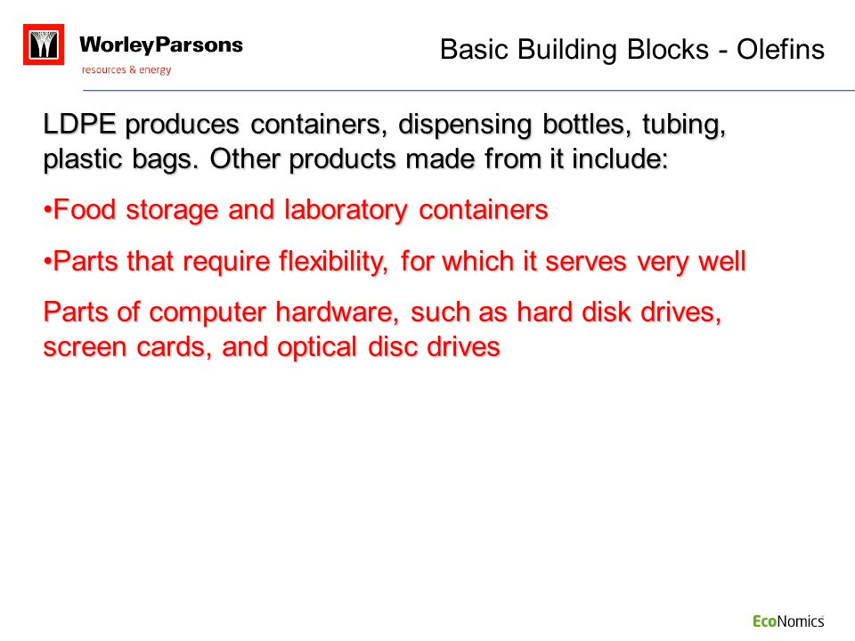 Basic Building Blocks - Olefins