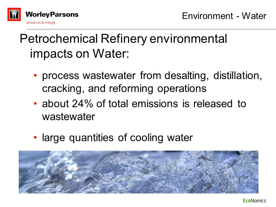 Petrochemical Refinery environmental impacts on Water: