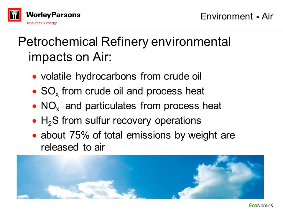 Petrochemical Refinery environmental impacts on Air: