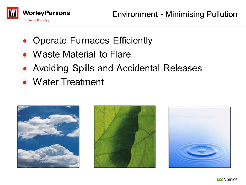 Environment - Minimising Pollution