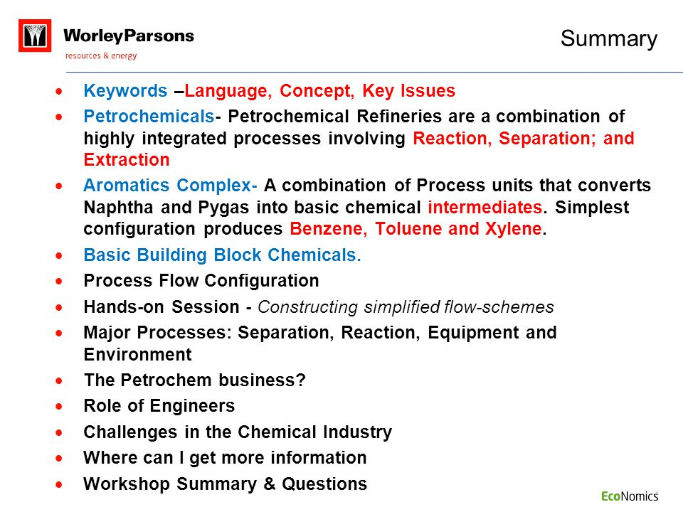 Summary Keywords –Language, Concept, Key Issues