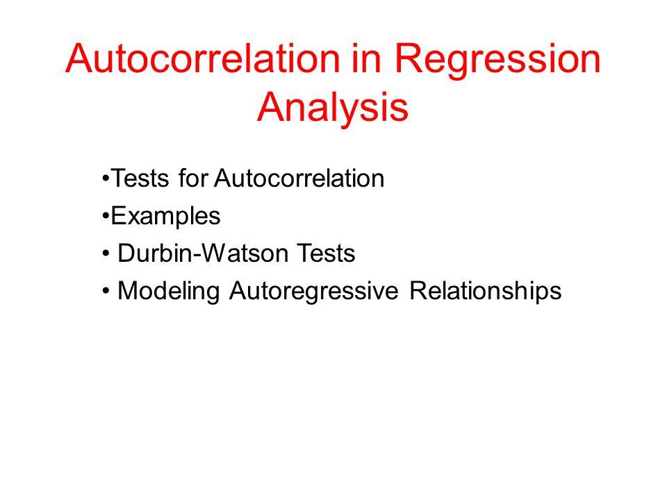 Autocorrelation in Regression Analysis