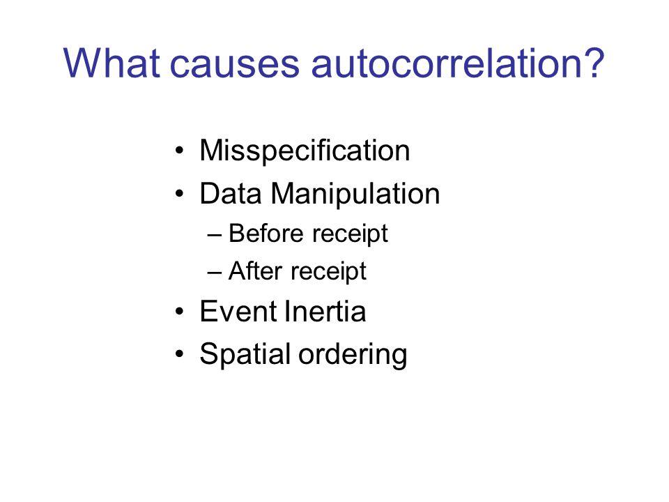 What causes autocorrelation
