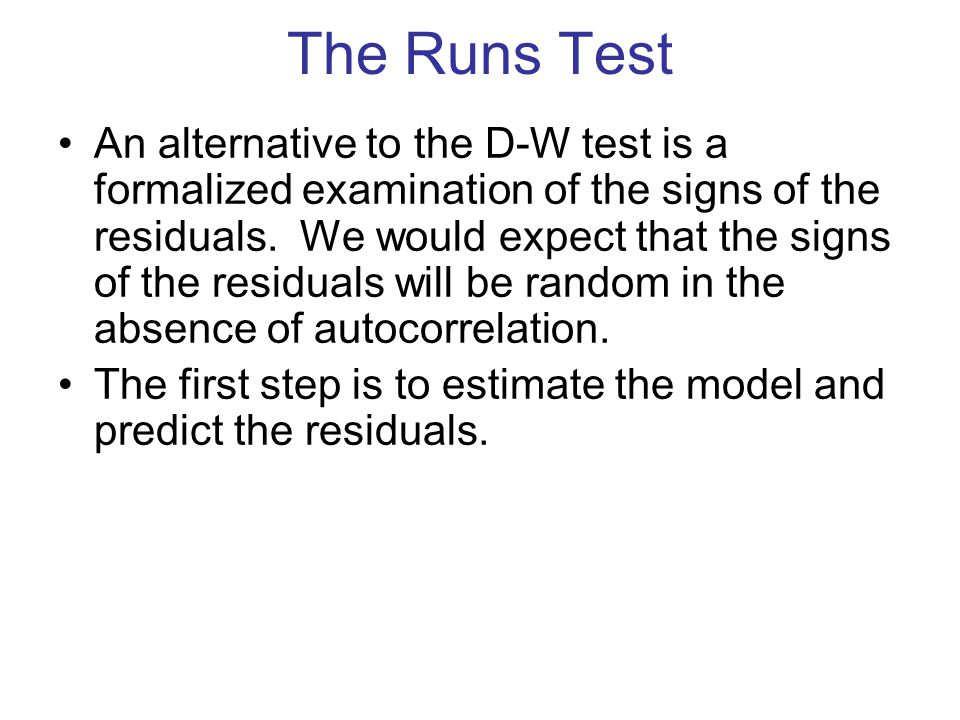 The Runs Test