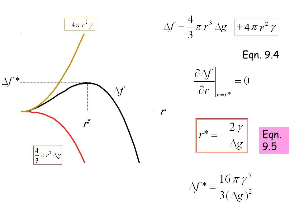 g p 2 4 r + Eqn. 9.4 r r* Eqn. 9.5