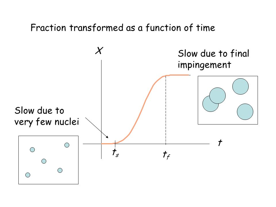 Fraction transformed as a function of time