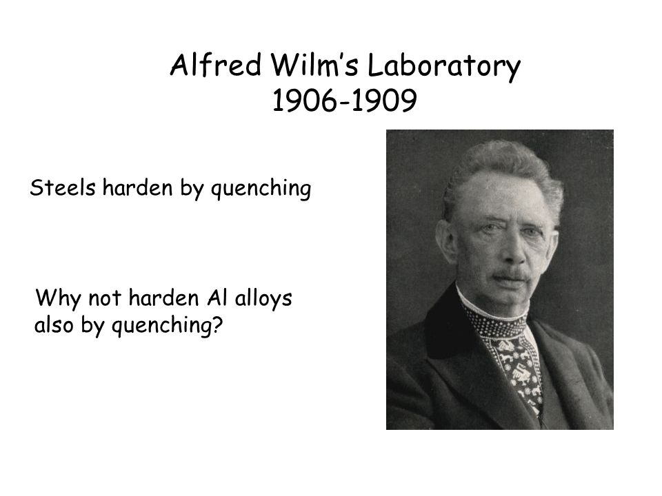 Alfred Wilm's Laboratory 1906-1909