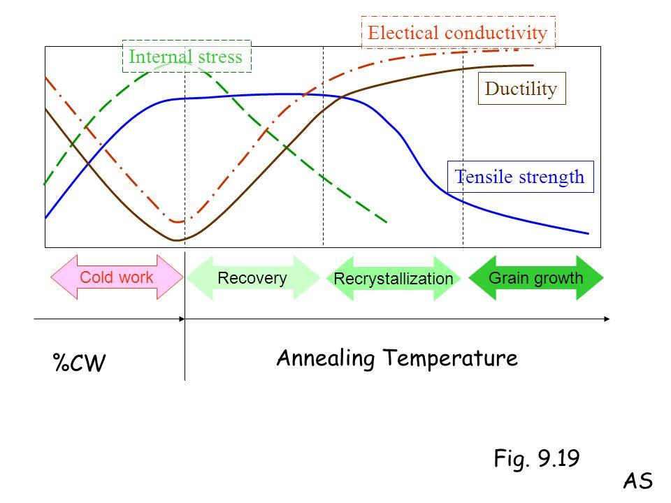 Annealing Temperature %CW