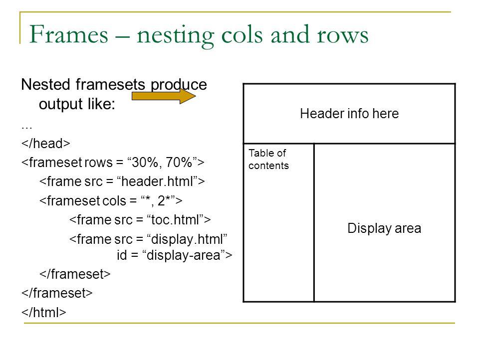 Html Frameset Tag Pdf | pixels1st.com