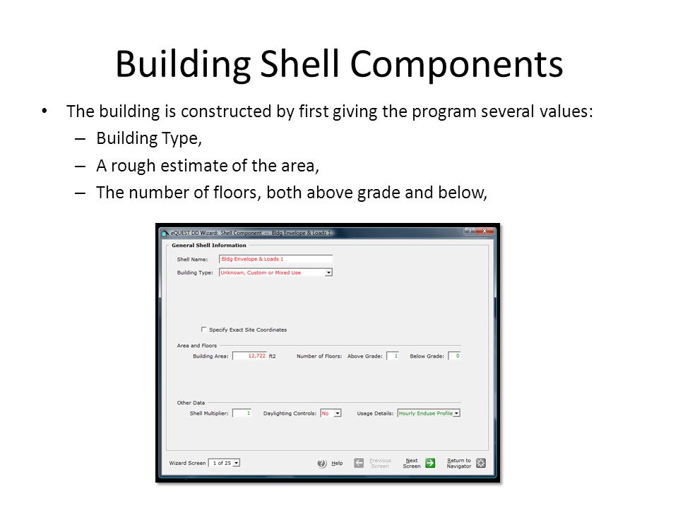 Building Shell Components