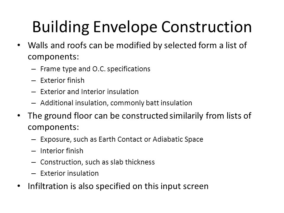Building Envelope Construction
