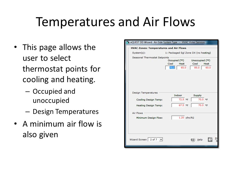 Temperatures and Air Flows