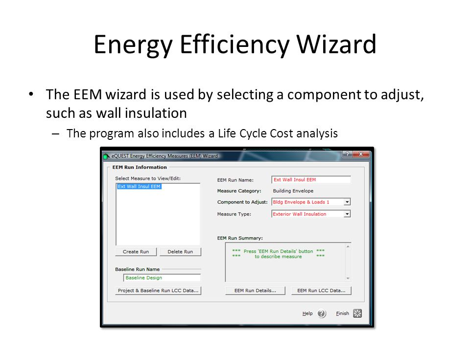 Energy Efficiency Wizard