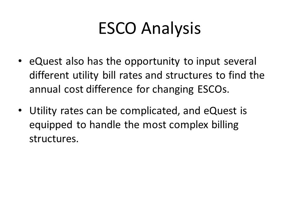 ESCO Analysis