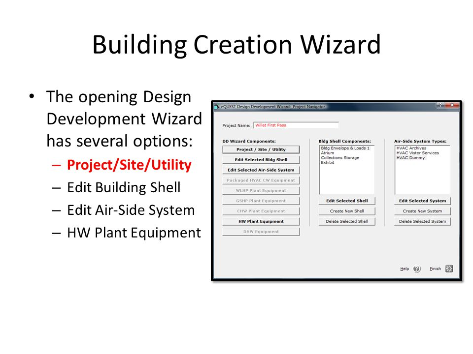Building Creation Wizard