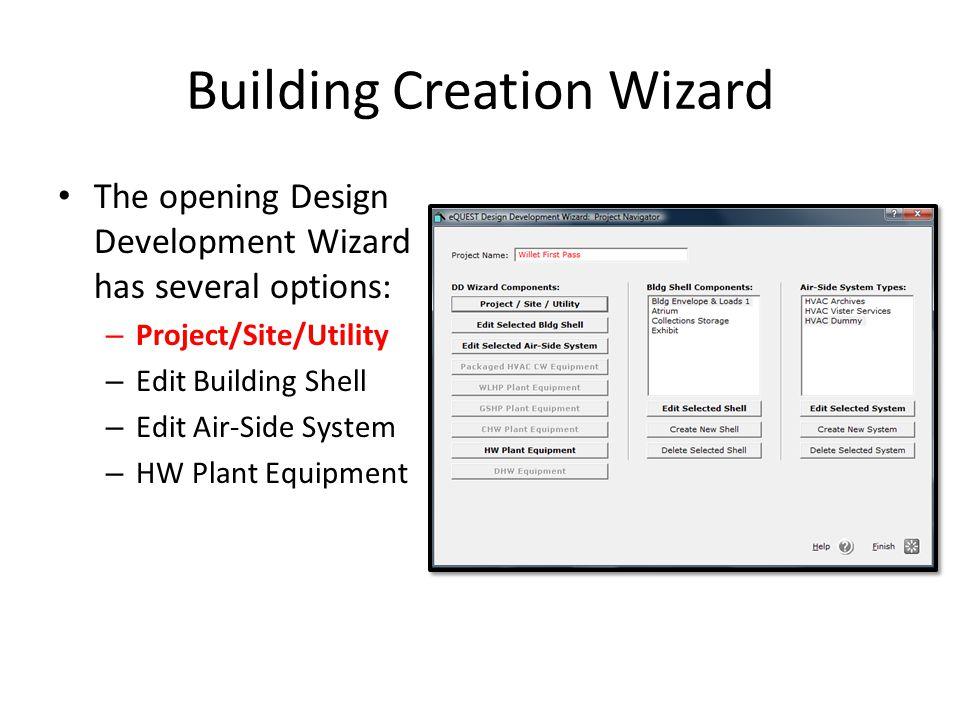 Building Creation Wizard