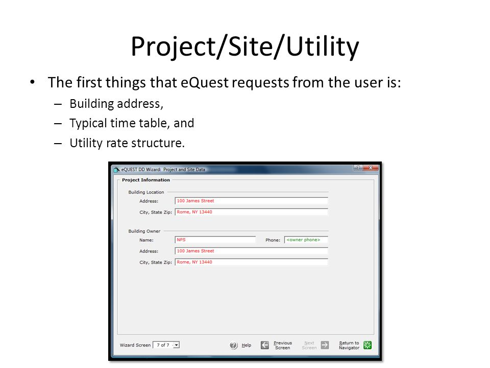 Project/Site/Utility