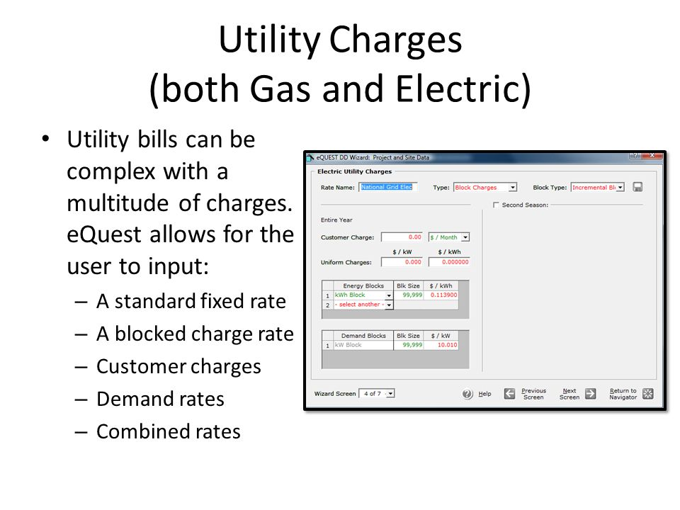 Utility Charges (both Gas and Electric)