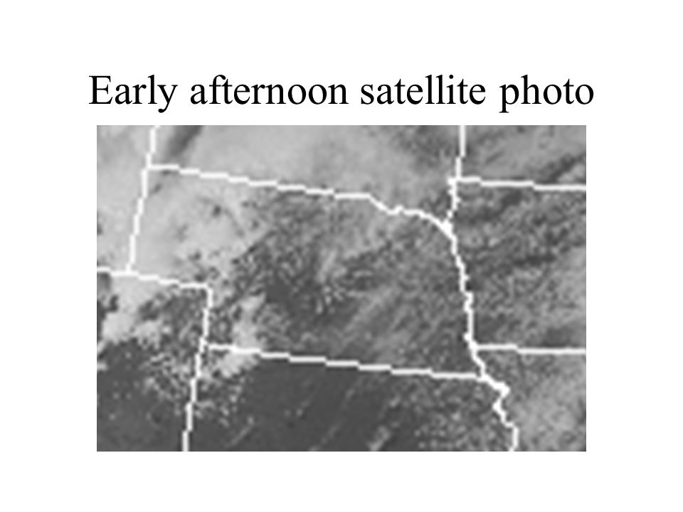 Early afternoon satellite photo
