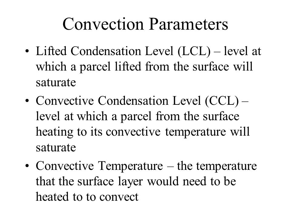Convection Parameters