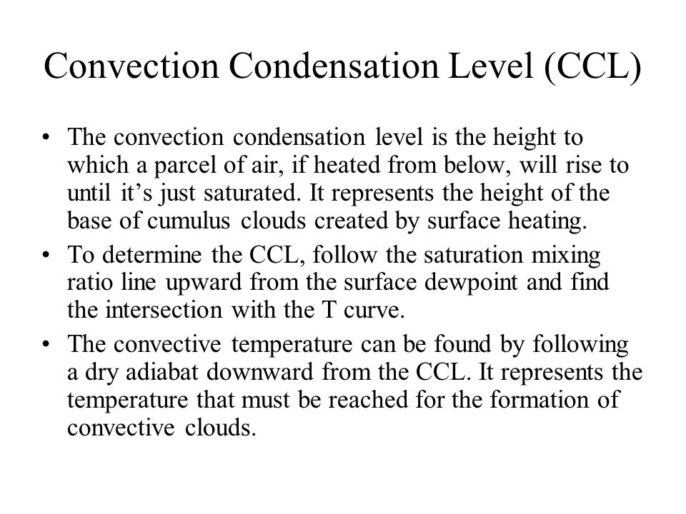 Convection Condensation Level (CCL)
