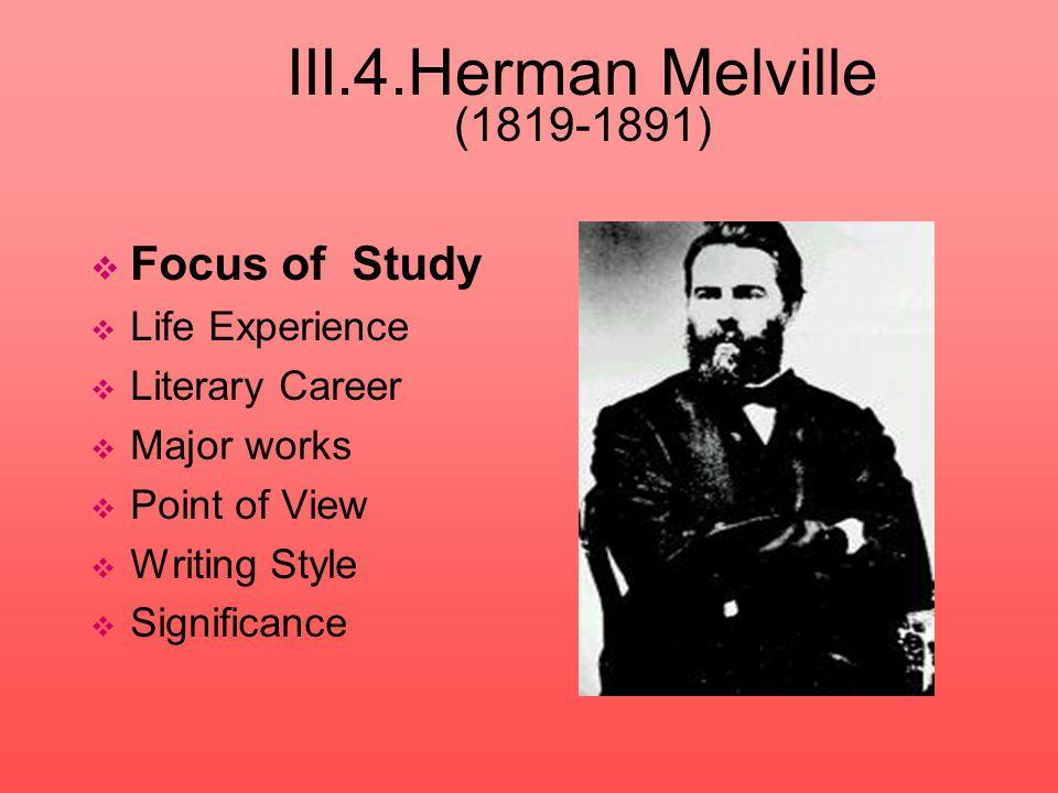 III.4.Herman Melville (1819-1891)