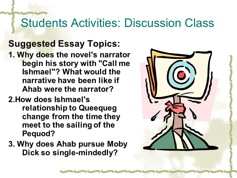 Students Activities: Discussion Class