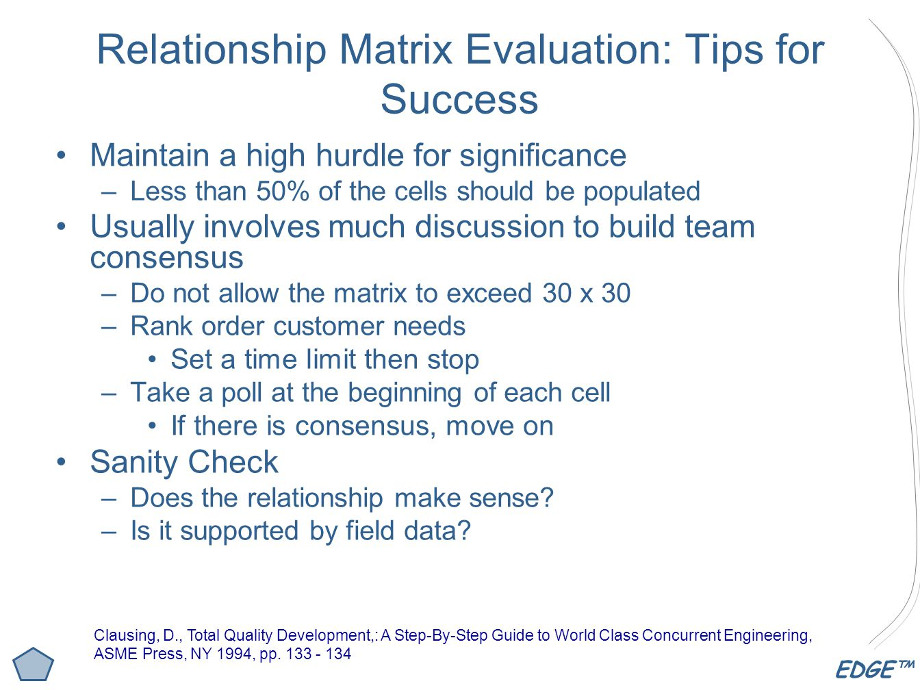 Relationship Matrix Evaluation: Tips for Success