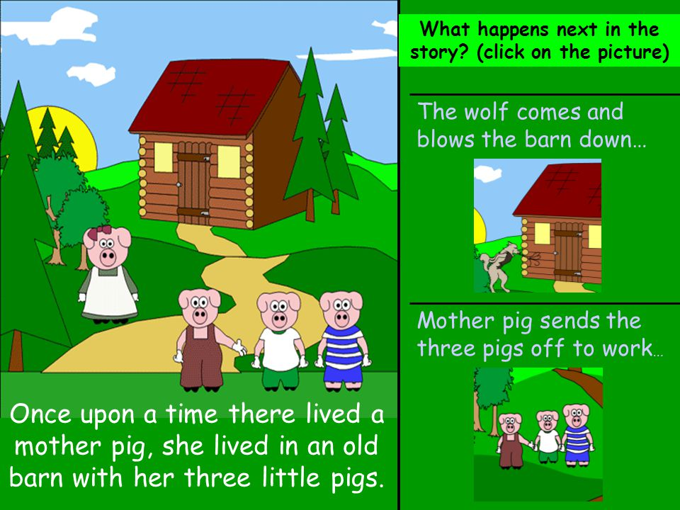 The Three Little Pigs Story  Worksheet  Educationcom