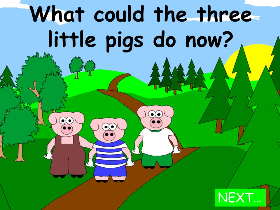 What could the three little pigs do now