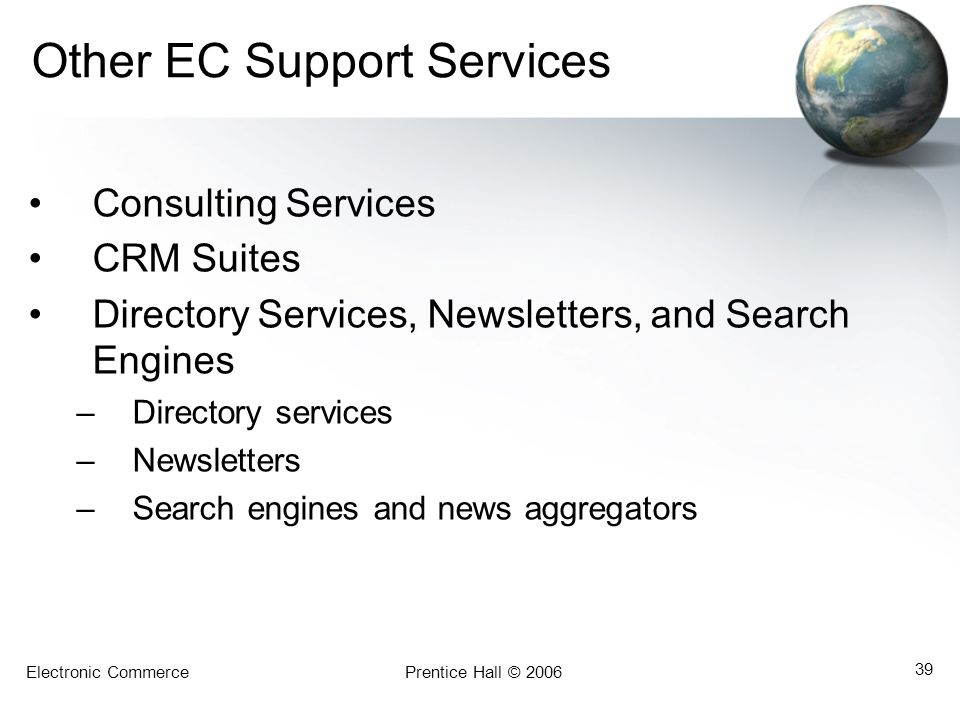 Other EC Support Services