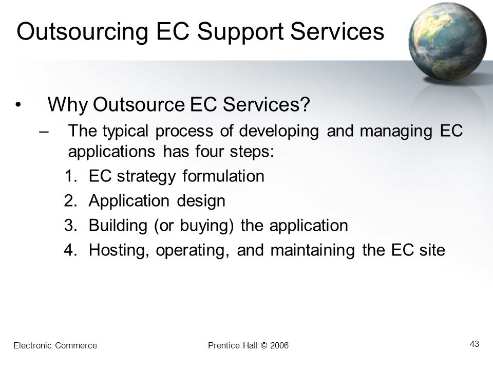 Outsourcing EC Support Services