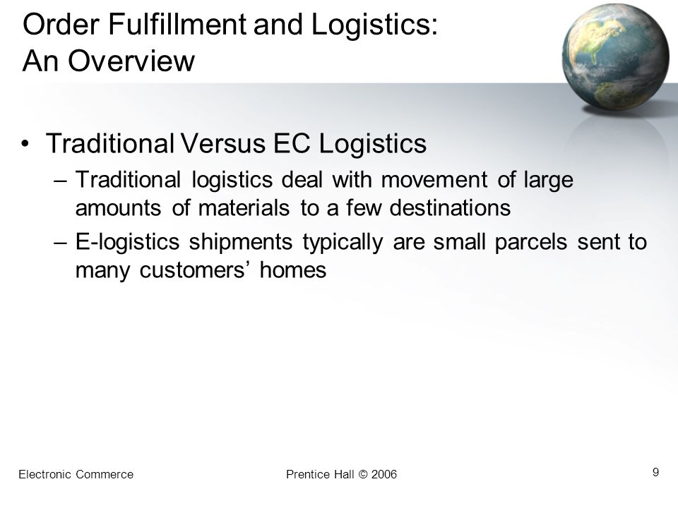 Order Fulfillment and Logistics: An Overview